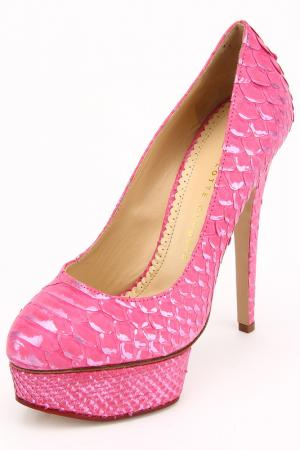 Туфли Charlotte Olympia. Цвет: розовый