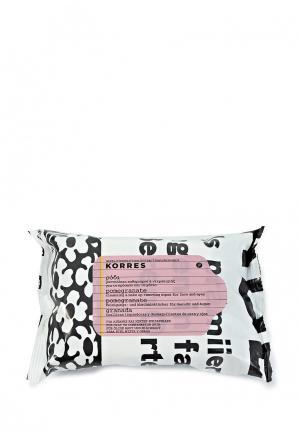 Салфетки для снятия макияжа Korres. Цвет: белый
