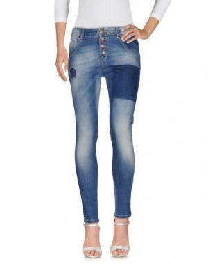 Джинсовые брюки MIVITE. Цвет: синий
