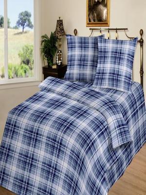 Комплект постельного белья тк.Бязь Сеньор Шоколад. Цвет: голубой, синий