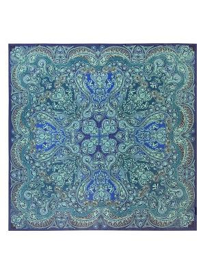 Платок Eleganzza. Цвет: синий, морская волна, светло-зеленый