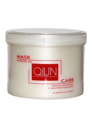 Маска для волос с маслом миндаля 500 мл Ollin Professional. Цвет: белый