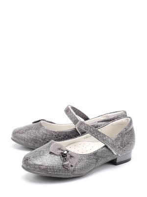 Туфли BI&KI. Цвет: серый