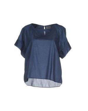 Блузка INGRAM. Цвет: синий