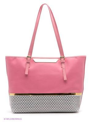 Сумка GUESS. Цвет: бледно-розовый, золотистый, белый, черный