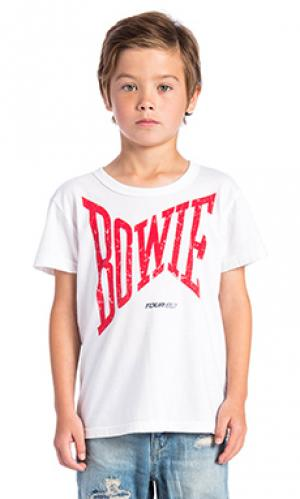 Футболка david bowie Chaser. Цвет: белый