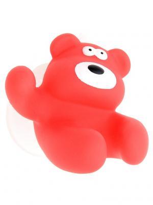 Крючок / держатель для зубных щеток настенный детский Малинник Moroshka kids. Цвет: красный