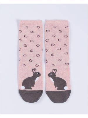 Носки женские Mark Formelle. Цвет: серый,розовый