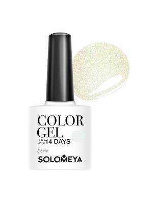 Гель-лак Color Gel Kate SCGK096/Кейт SOLOMEYA. Цвет: бледно-розовый, золотистый