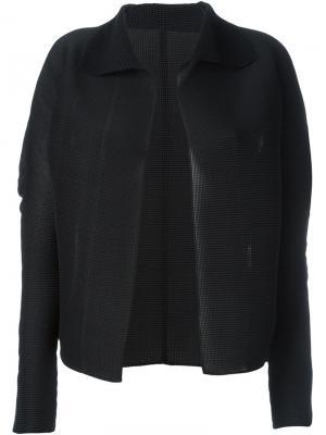 Пиджак без застежки Issey Miyake Cauliflower. Цвет: чёрный
