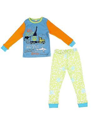 Пижама Yallo Kids. Цвет: голубой