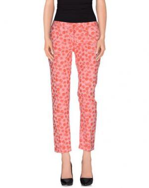 Повседневные брюки MONOCROM. Цвет: красный