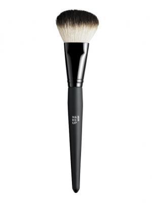 Кисть для пудры Powder Brush Make up factory. Цвет: черный