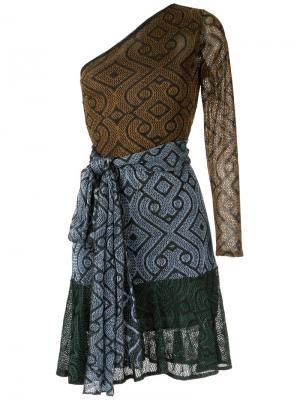 Knit asymmetric dress Cecilia Prado. Цвет: коричневый