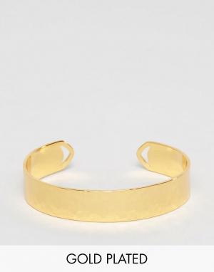 Gorjana Позолоченный браслет-манжета Amanda. Цвет: золотой