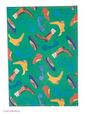 Обложка для паспорта Mitya Veselkov. Цвет: зеленый