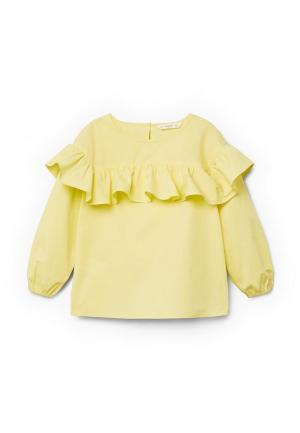 Блуза Mango Kids. Цвет: желтый