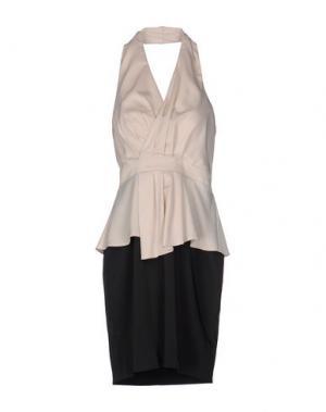 Платье до колена SOOZ BY ISABEL C.. Цвет: бежевый