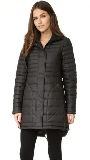 Оригинальное изящное короткое пуховое пальто Hunter Boots. Цвет: голубой