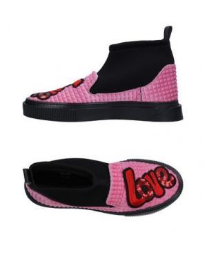 Высокие кеды и кроссовки ENRICO FANTINI. Цвет: розовый