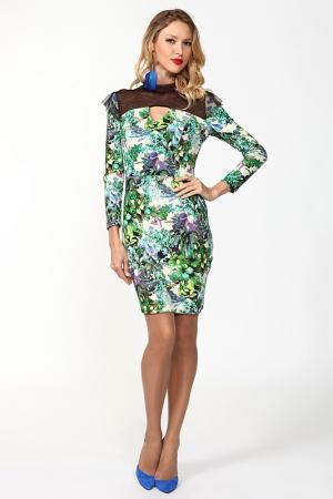 Платье мини ANNA K.. Цвет: зеленый