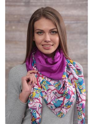 Платок FOMAS. Цвет: фиолетовый, голубой