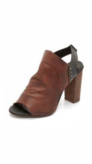 Босоножки на каблуках Picture This Free People. Цвет: комбинированный коричневый