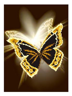 Рисунок на шелке Зазеркалье Матренин Посад. Цвет: черный, белый, коричневый