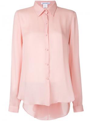 Рубашка со сборкой сзади Bianca Spender. Цвет: розовый и фиолетовый