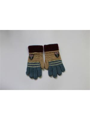 Перчатки Cascatto. Цвет: бежевый, синий
