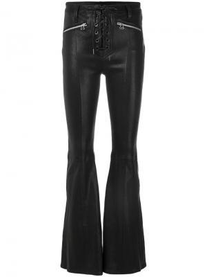Расклешенные брюки со шнуровкой Rag & Bone /Jean. Цвет: чёрный
