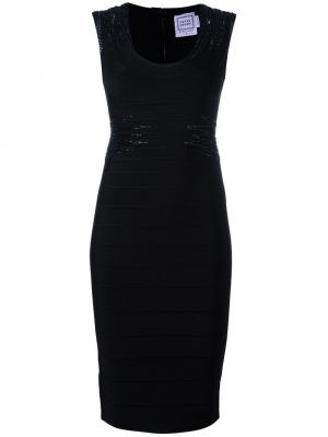 Платье Janelle Hervé Léger. Цвет: чёрный