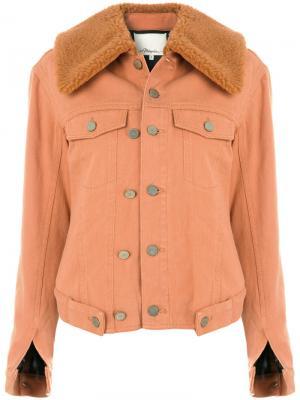 Джинсовая куртка с цигейкой 3.1 Phillip Lim. Цвет: жёлтый и оранжевый