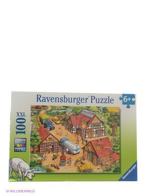 Пазл На ферме  100шт Ravensburger. Цвет: коричневый
