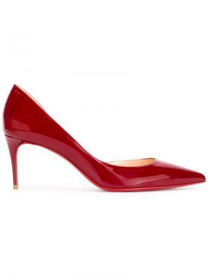 Туфли-лодочки с заостренным носком Christian Louboutin. Цвет: красный