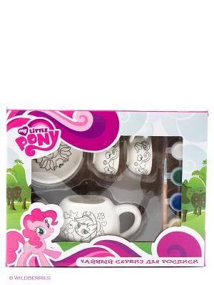 Набор посуды для росписи Multiart My little pony. Цвет: белый