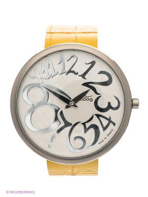 Часы MOOG. Цвет: серебристый, желтый