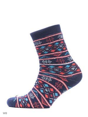 Махровые носки BROSS. Цвет: темно-синий
