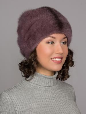 Шапка Slava Furs. Цвет: фиолетовый