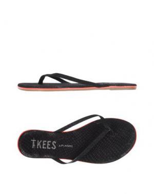Вьетнамки TKEES. Цвет: черный