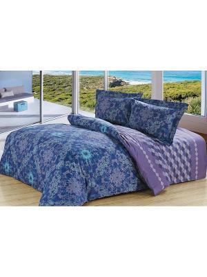 Комплект постельного белья Soft Line. Цвет: синий