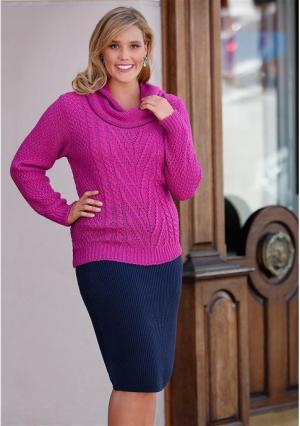 Пуловер MY STYLE. Цвет: ярко-розовый