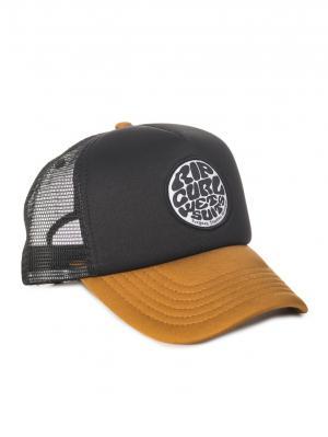 Кепка  WETTY BADGE TRUCKER Rip Curl. Цвет: черный, темно-коричневый