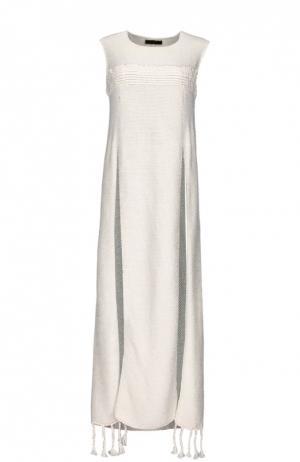 Платье The Row. Цвет: белый