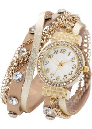 Наручные часы-браслеты Майри (золотистый) bonprix. Цвет: золотистый