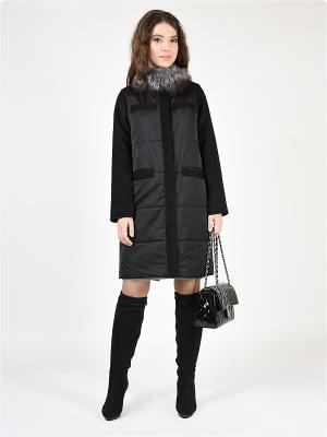 Пальто GRAFINIA. Цвет: черный