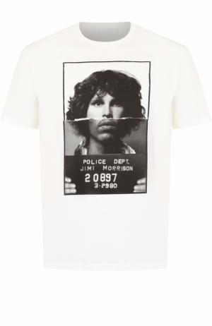 Хлопковая футболка с принтом Neil Barrett. Цвет: белый