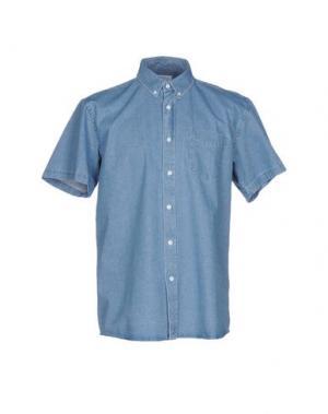 Джинсовая рубашка SATURDAYS SURF NYC. Цвет: синий