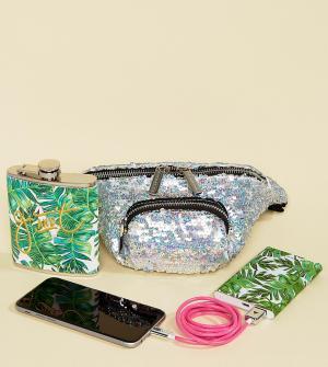 Skinnydip Эксклюзивная фестивальная сумка-кошелек на пояс. Цвет: мульти