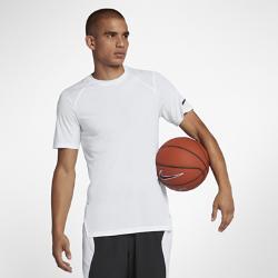 Мужская баскетбольная футболка с коротким рукавом  Breathe Elite Nike. Цвет: белый